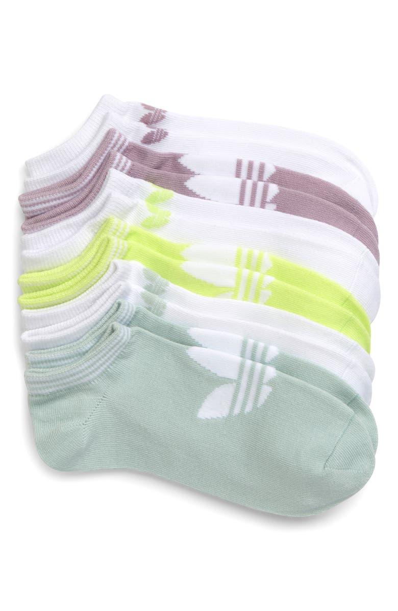 ADIDAS ORIGINALS 6-Pack Trefoil Superlite No-Show Socks, Main, color, 300