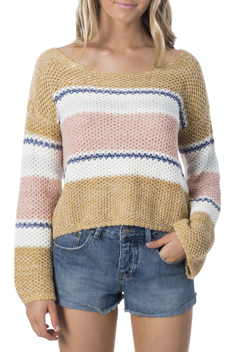 RIP CURL Sunsetters Stripe Sweater, Main, color, 200