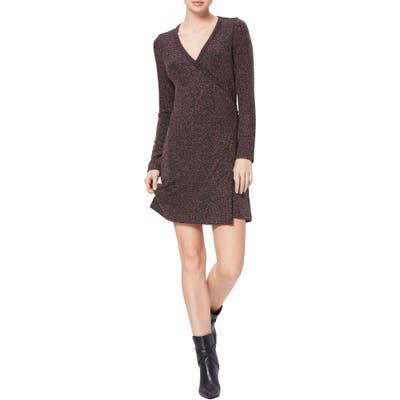 Paige Lucielle Long Sleeve Wrap Dress, Black