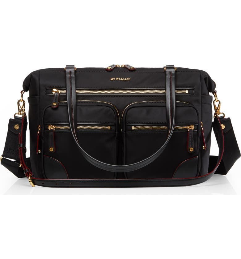 MZ WALLACE Tribeca Traveler Bag, Main, color, BLACK