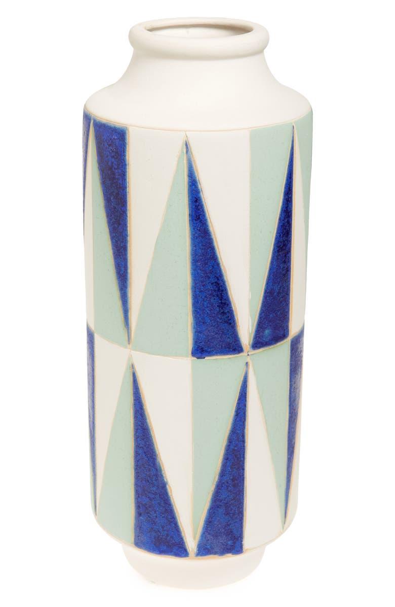 SHIRALEAH Geo Ceramic Vase, Main, color, 300