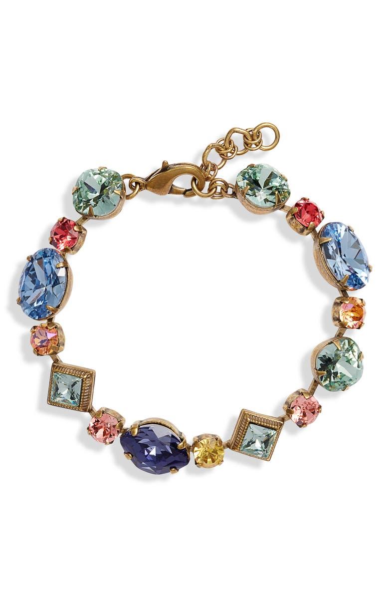 SORRELLI Bohemian Bright Geometric Crystal Bracelet, Main, color, 710