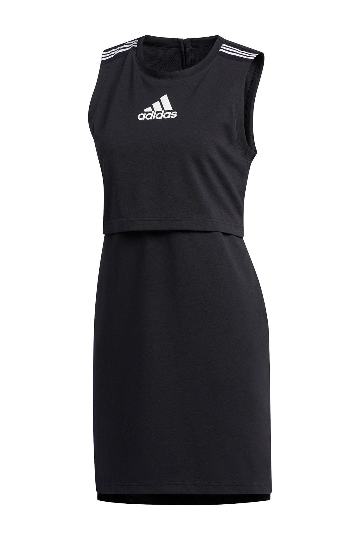 Image of adidas Logo Sleeveless Sheath Dress