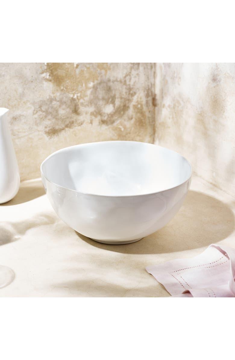THE WHITE COMPANY Portobello Salad Bowl, Main, color, WHITE
