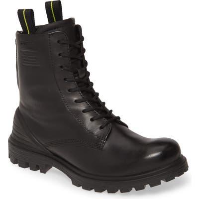 Ecco Tred Tray Waterproof Combat Boot, Black
