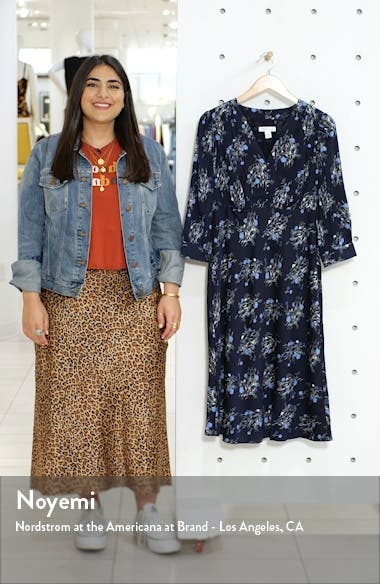 Floral Stretch Silk Dress, sales video thumbnail