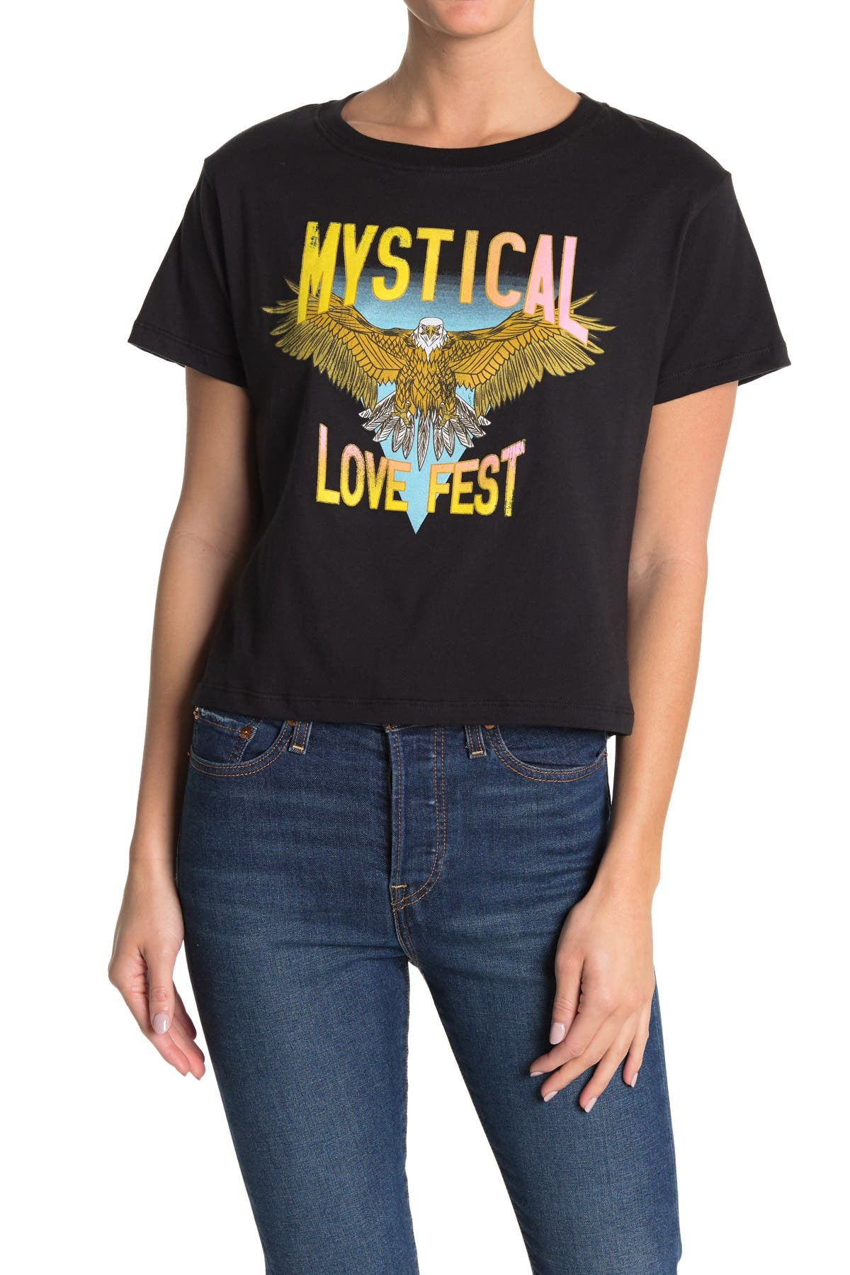 Image of CIRCLEX Mystical Love Fest Cropped T-Shirt