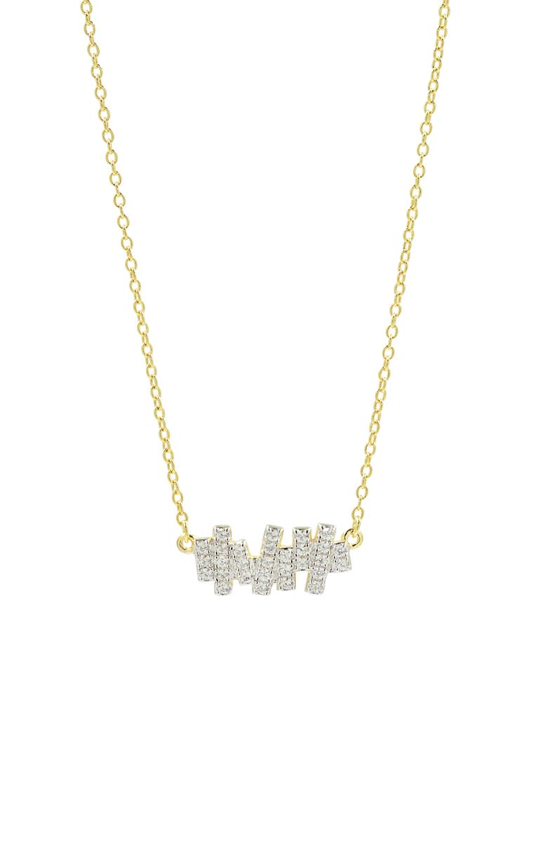 FREIDA ROTHMAN Radiance Pendant Necklace, Main, color, SILVER/ GOLD