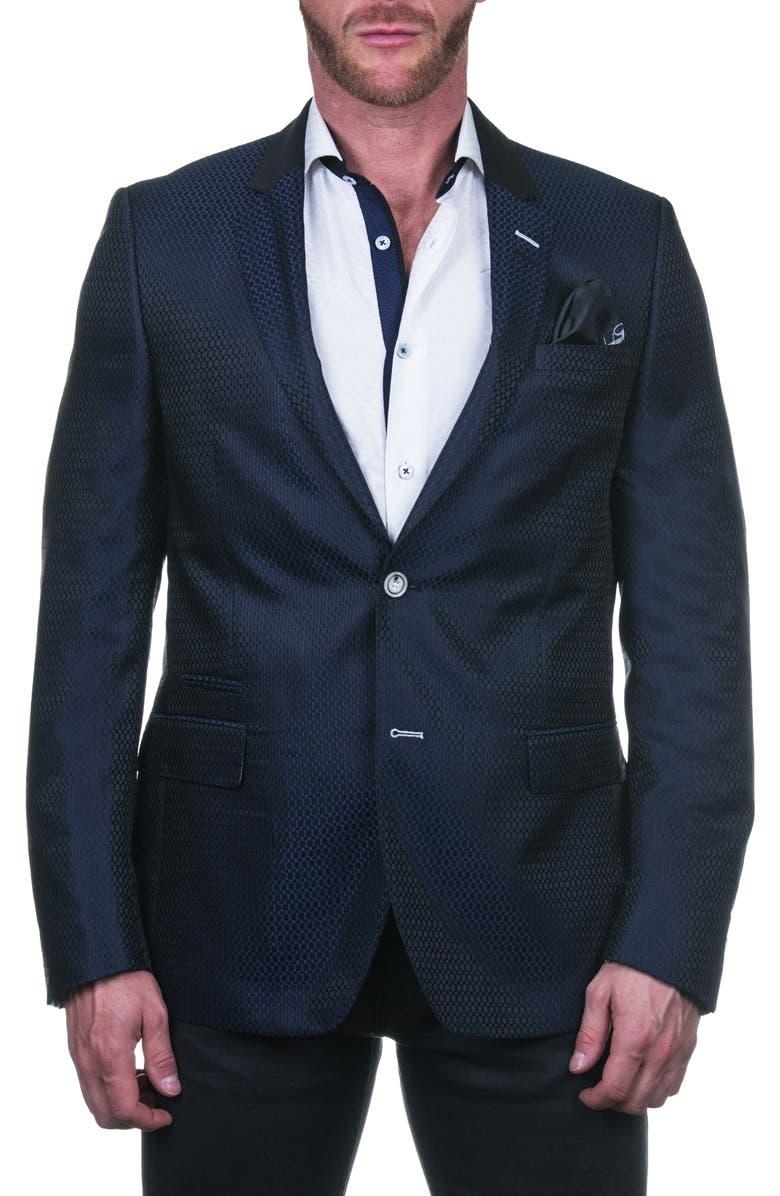 MACEOO Socrates Regular Fit Evo Line Sport Coat, Main, color, BLACK