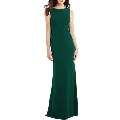 Dessy Collection Crepe Trumpet Gown, Green