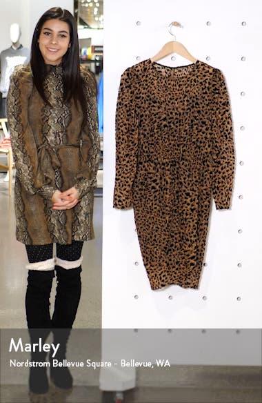 Leopard Print Long Sleeve Dress, sales video thumbnail