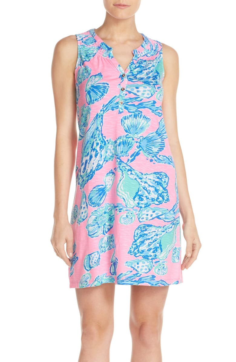 LILLY PULITZER<SUP>®</SUP> 'Essie' Print Cotton & Modal A-Line Dress, Main, color, 672