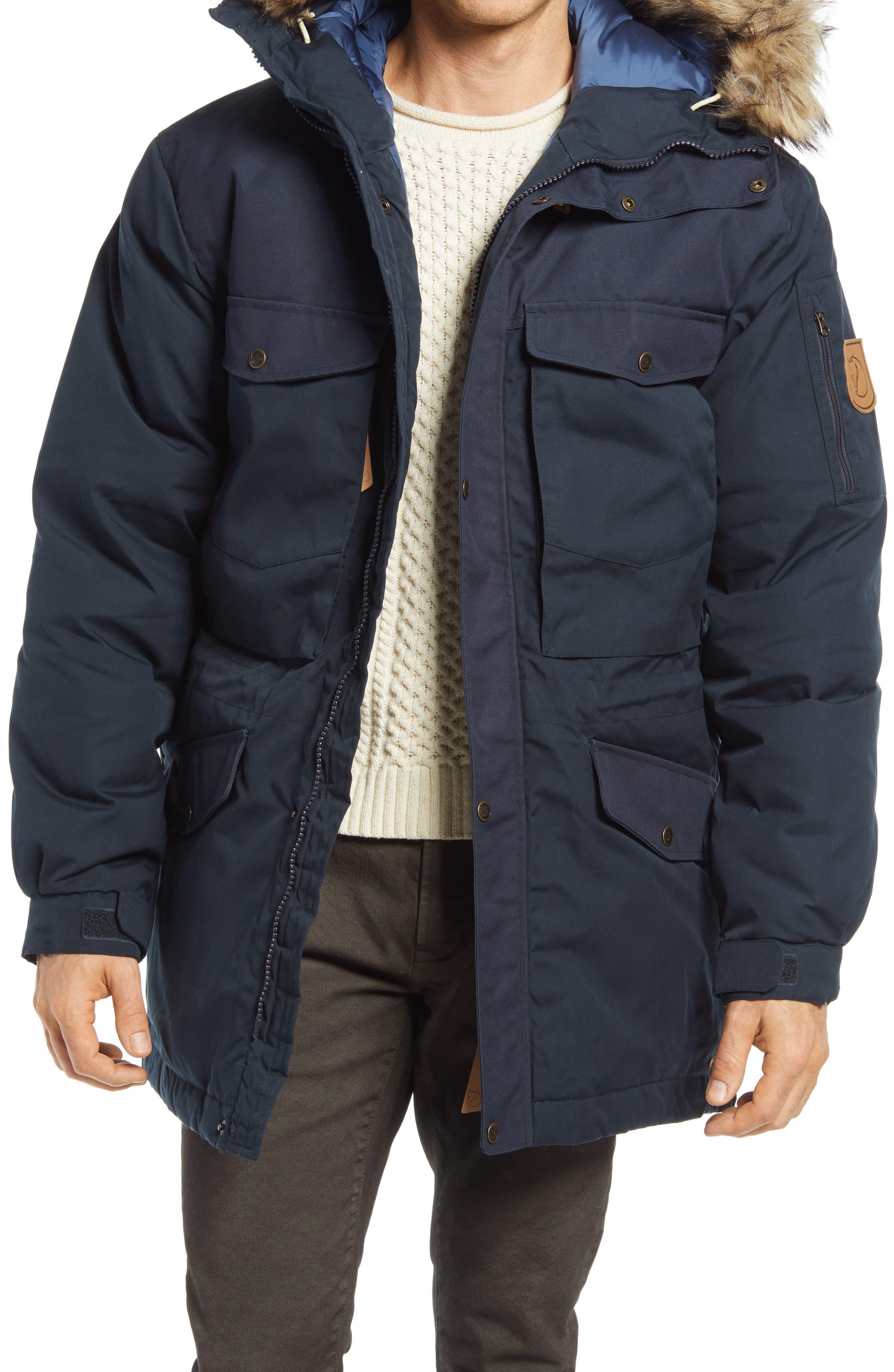 Singi Down Jacket With Faux Fur Trim