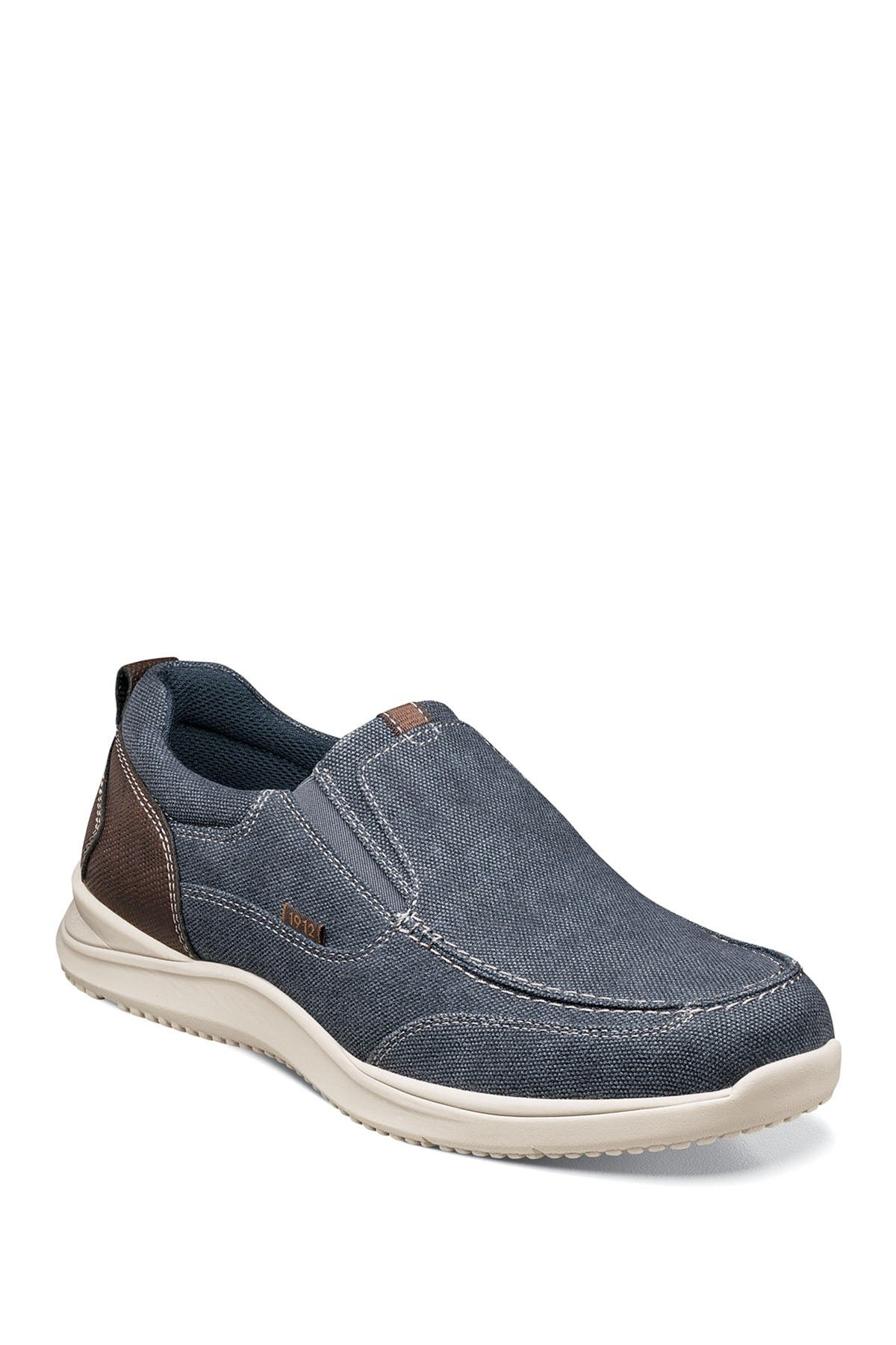 Image of NUNN BUSH Conway Canvas Slip-On Sneaker - Wide Width Available