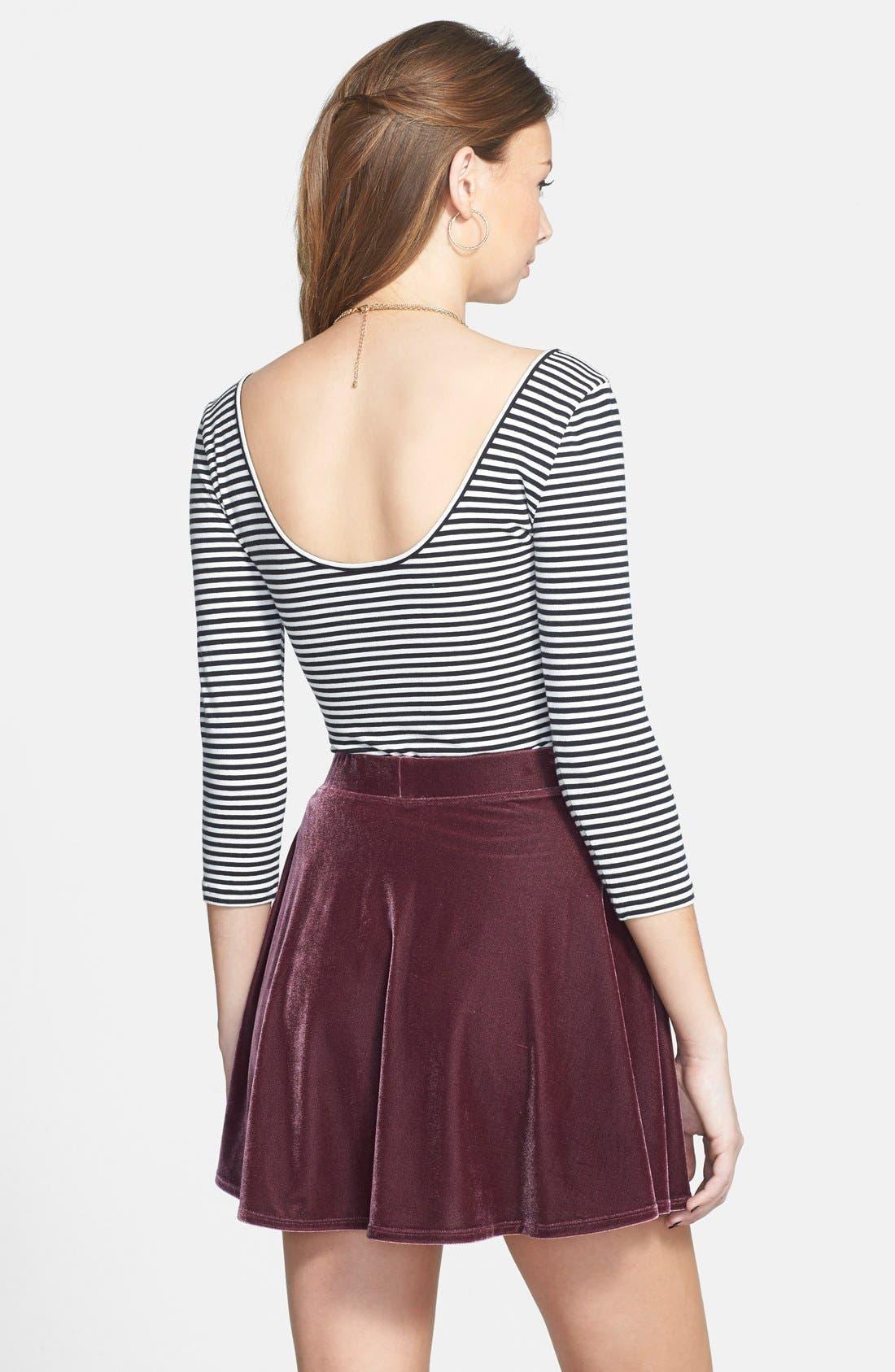 ,                             Velour Skater Skirt,                             Alternate thumbnail 8, color,                             938