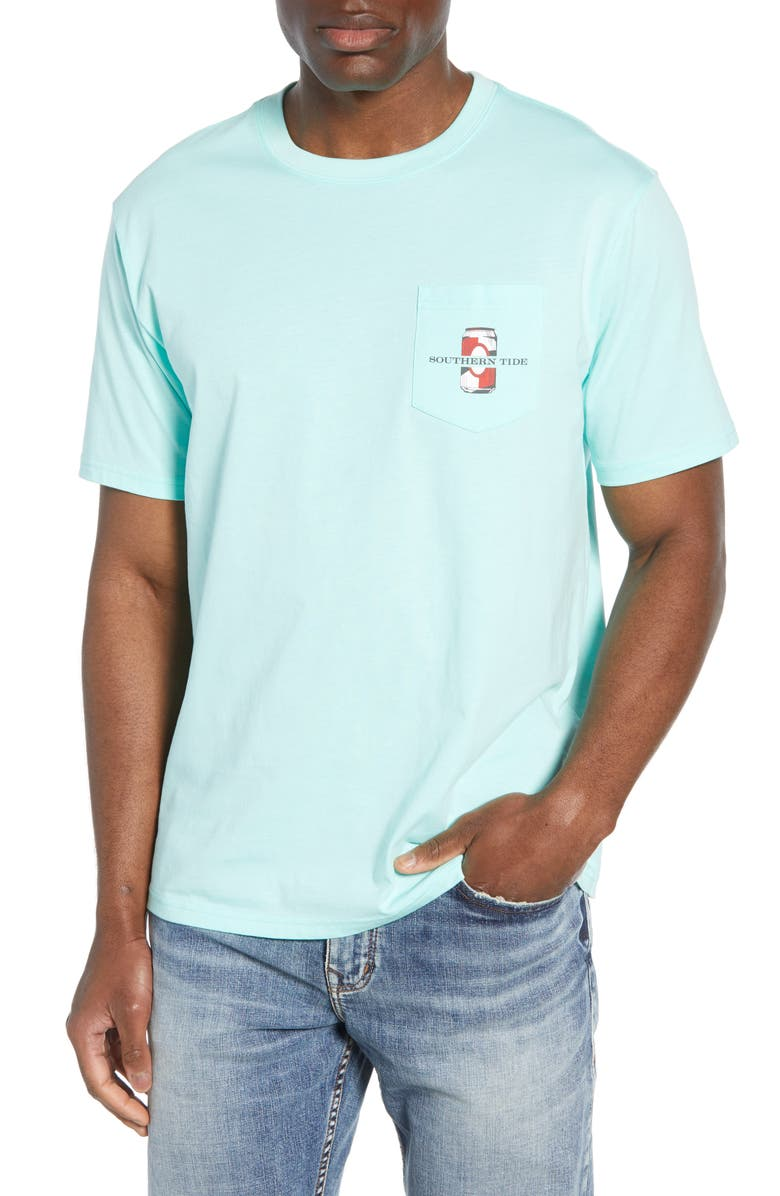 SOUTHERN TIDE American Brewed Pocket T-Shirt, Main, color, 376