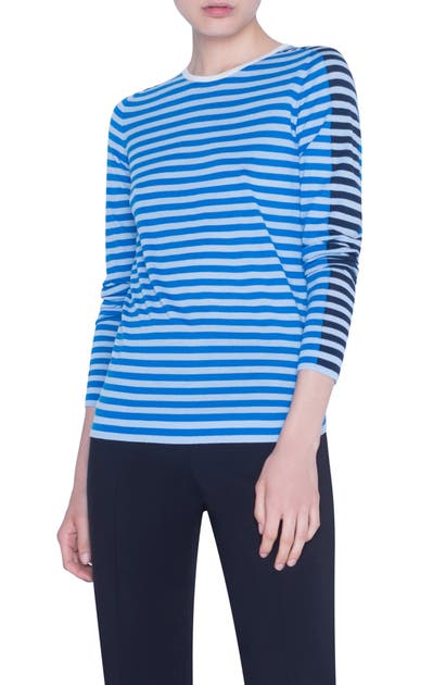 Akris Punto Sweaters MULTICOLOR STRIPE MERINO WOOL SWEATER