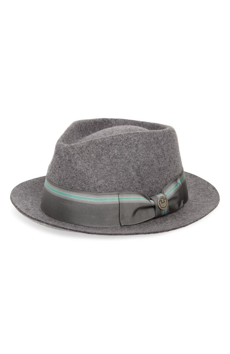 GOORIN BROS. Star Boy Fedora, Main, color, CHARCOAL