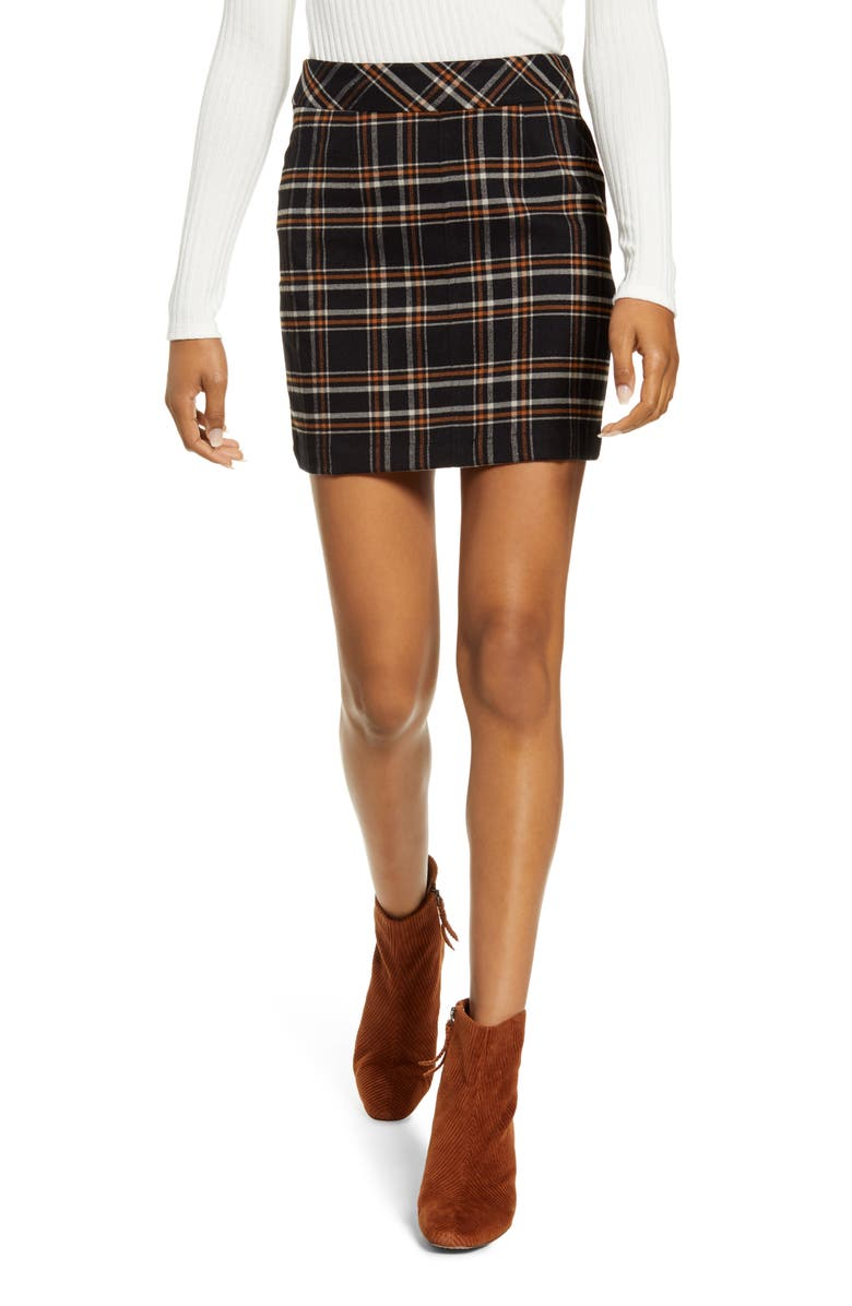 BP. Plaid Miniskirt, Main, color, 001