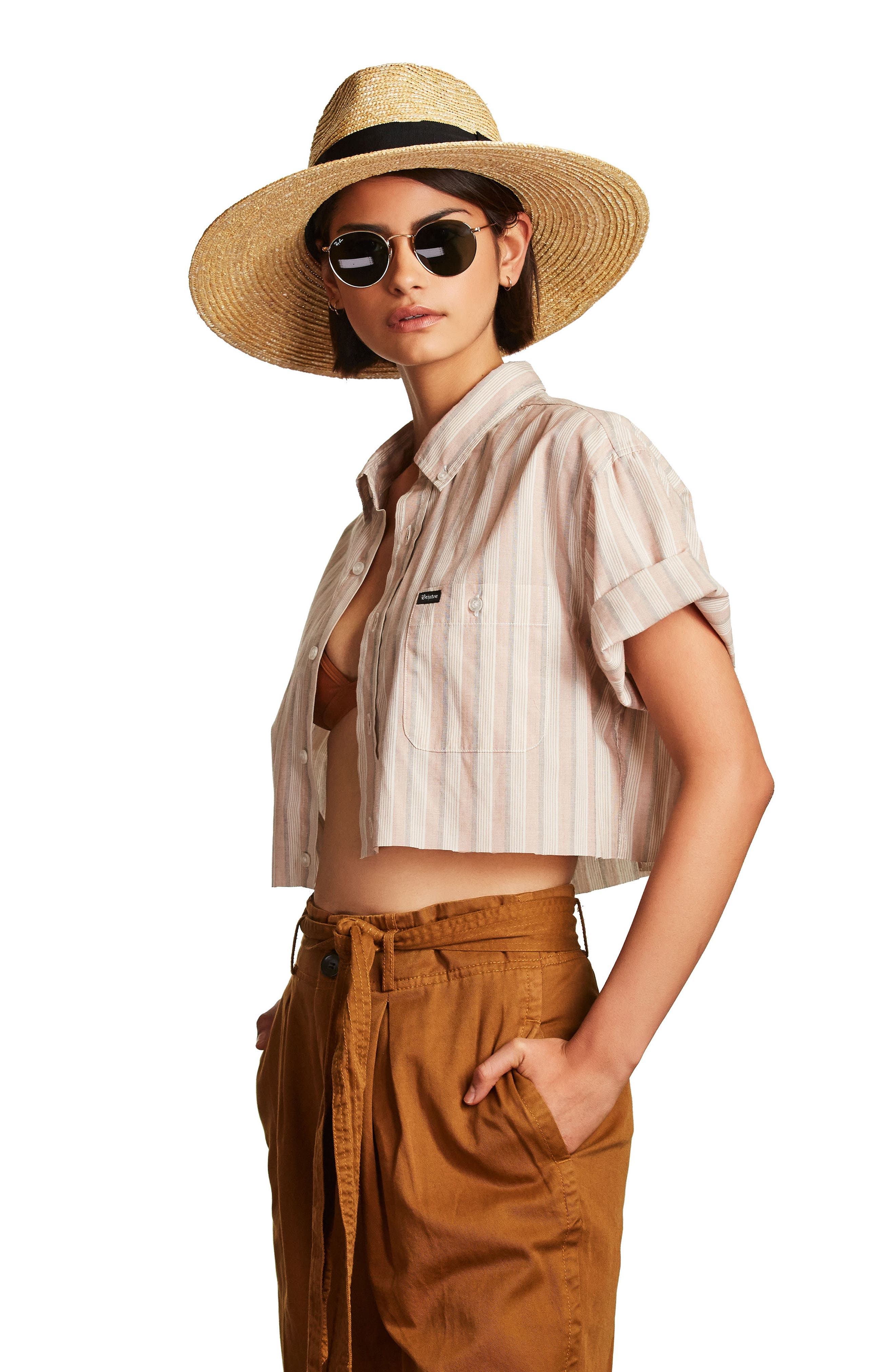 ,                             'Joanna' Straw Hat,                             Alternate thumbnail 11, color,                             HONEY