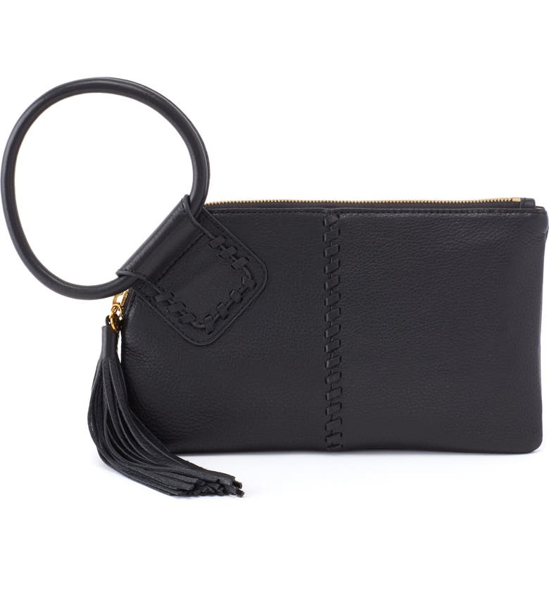 HOBO Sable Leather Clutch, Main, color, 001
