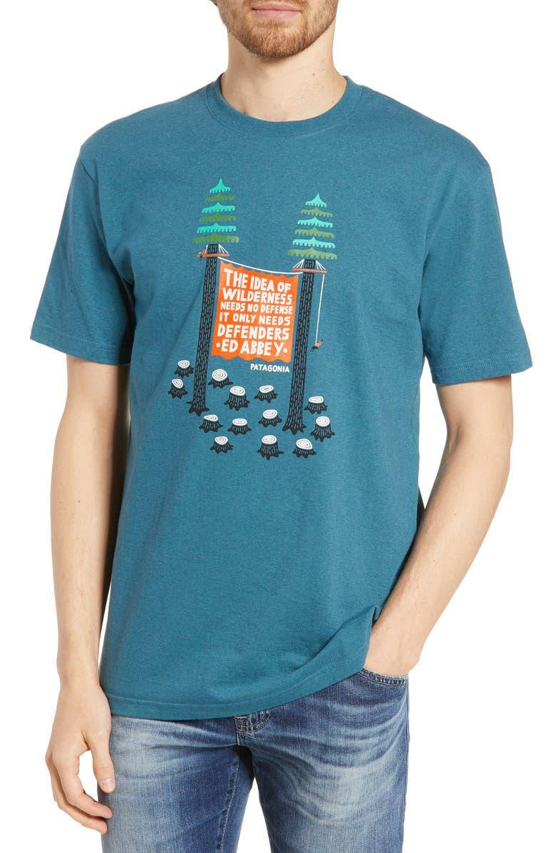 PATAGONIA Treesitters Responsibili-Tee<sup>®</sup> Graphic T-Shirt, Main, color, TASMANIAN TEAL