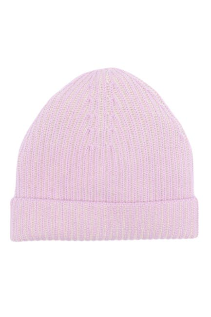 Image of Theory Foldover Ribbed Cashmere Beanie
