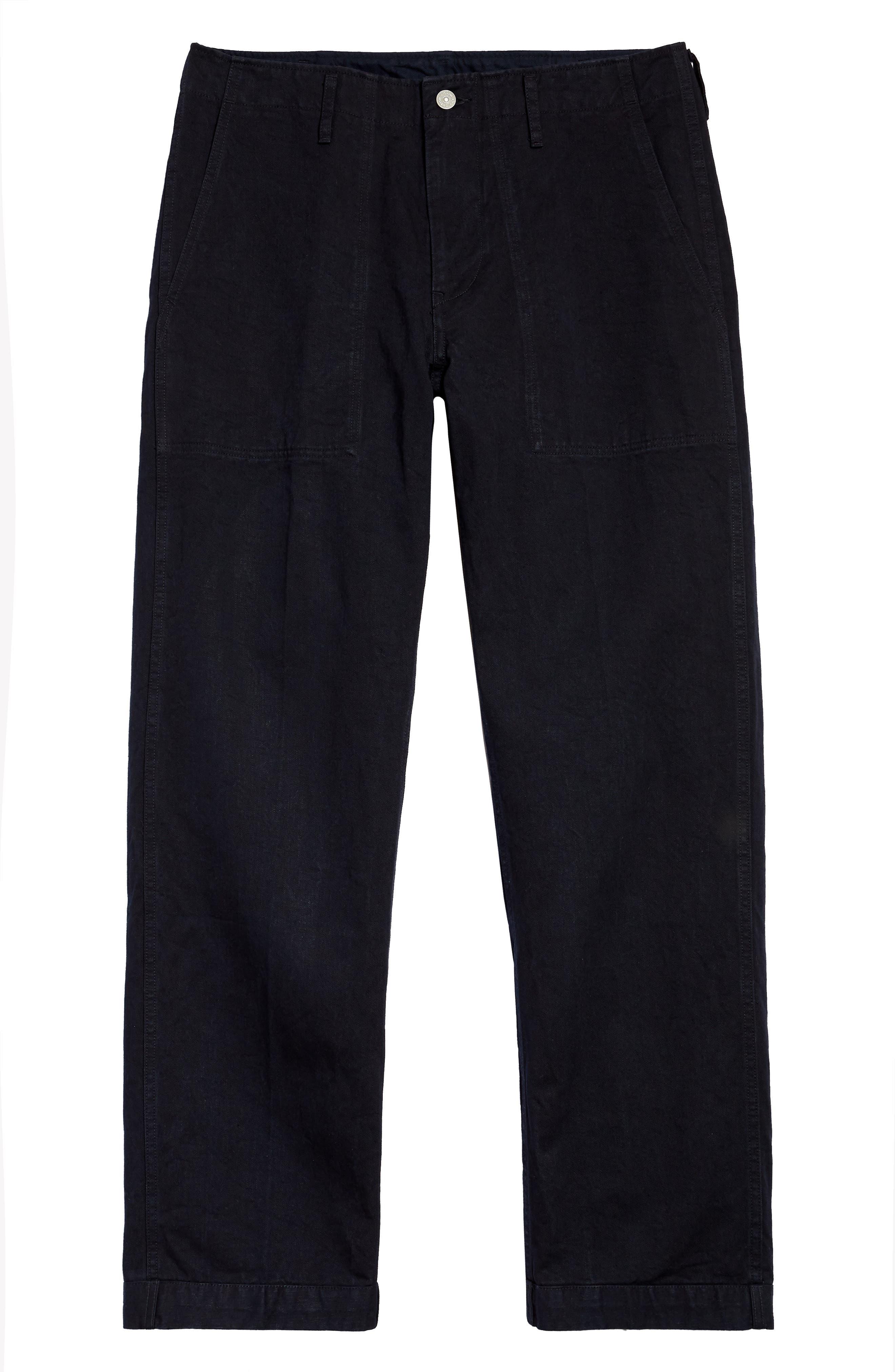Men's Visvim Trade Wind Cotton & Linen Pants,  2(m) - Blue