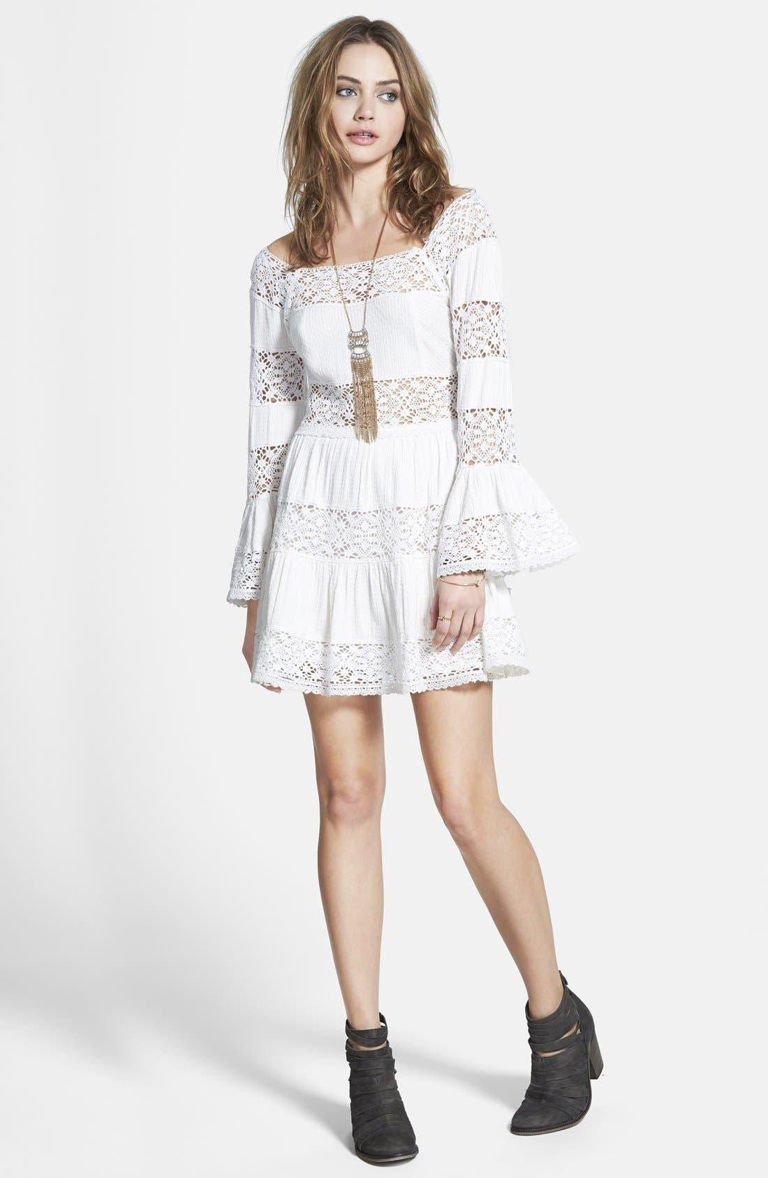 ,                             'Pippa' Gauze Fit & Flare Dress,                             Main thumbnail 6, color,                             900