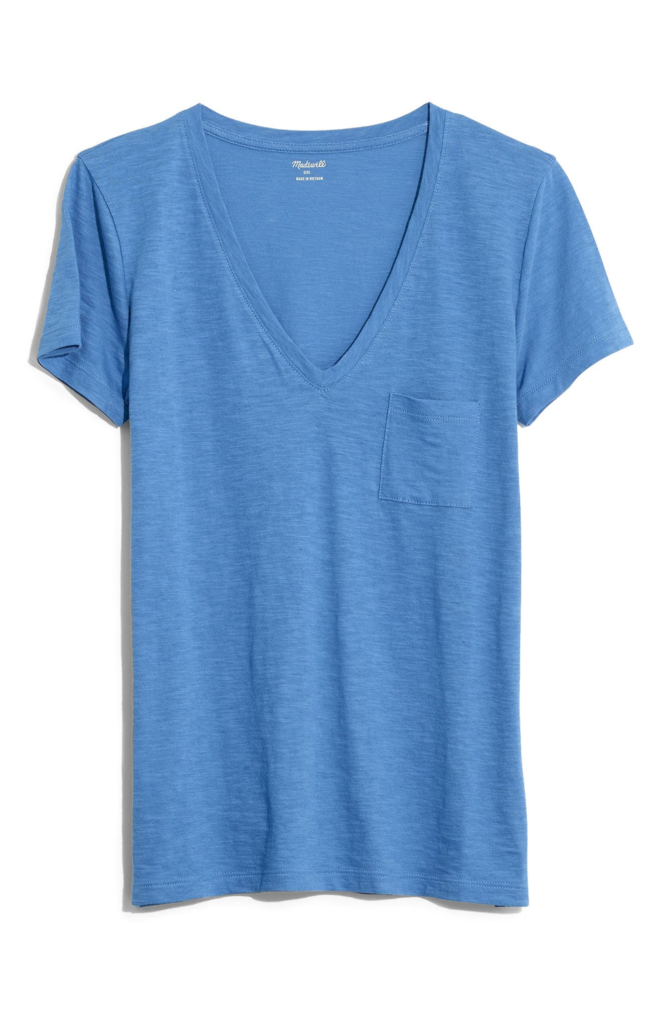 Madewell Whisper Cotton V-Neck Pocket Tee (Regular & Plus Size)