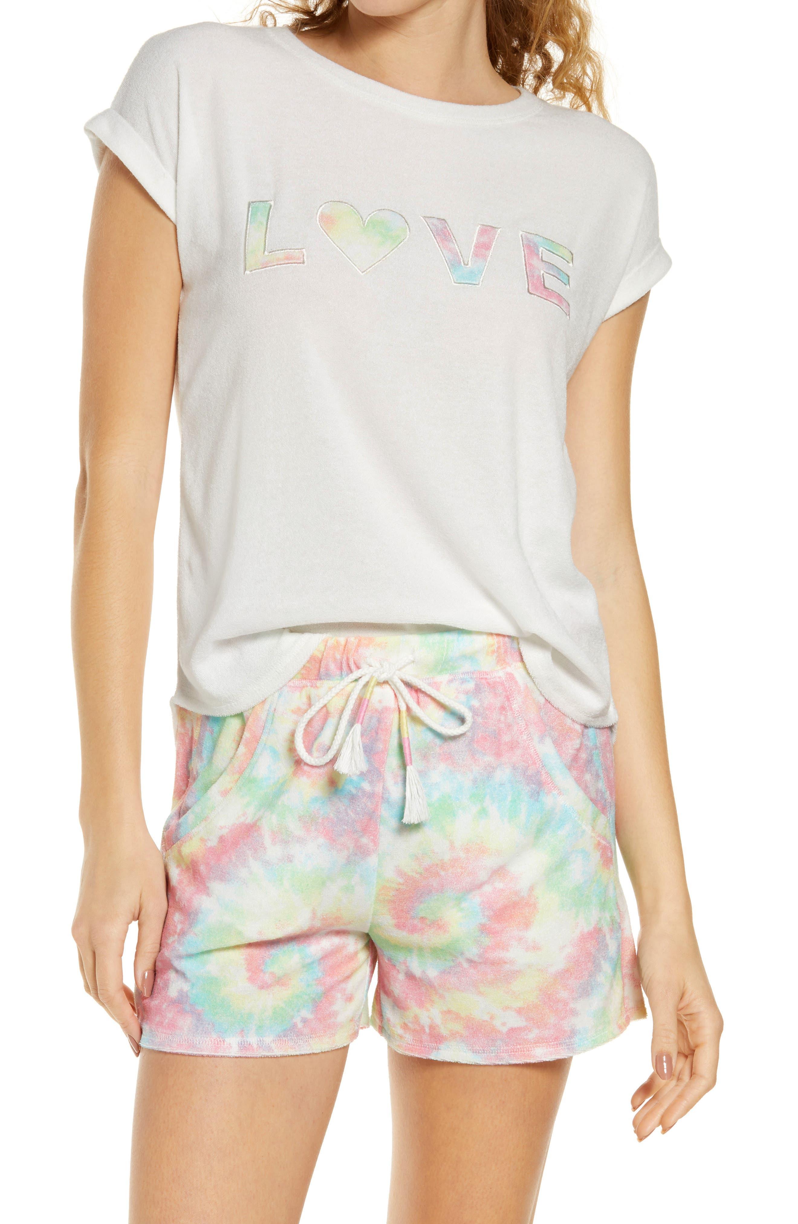 Love Tie Dye Short Pajamas