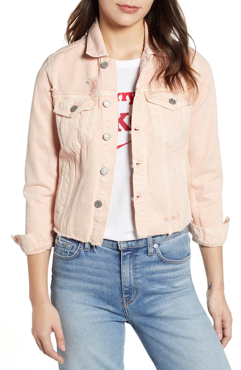 LUCKY BRAND Tomboy Trucker Jacket, Main, color, 690