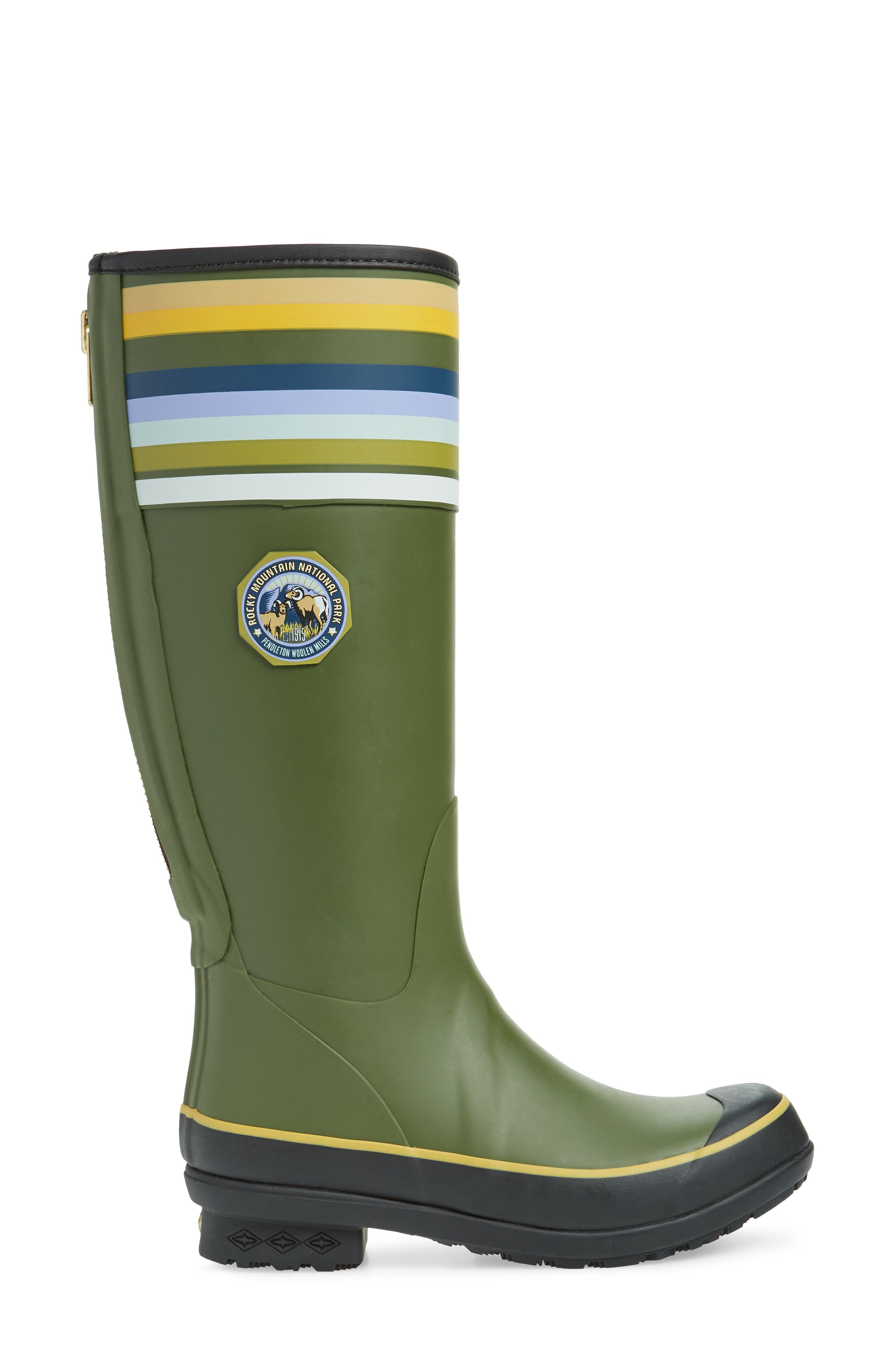 ,                             Rocky Mountain National Park Tall Rain Boot,                             Alternate thumbnail 3, color,                             OLIVE RUBBER