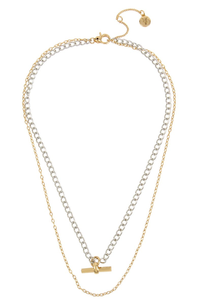 Allsaints Double Layer Toggle Necklace Nordstrom