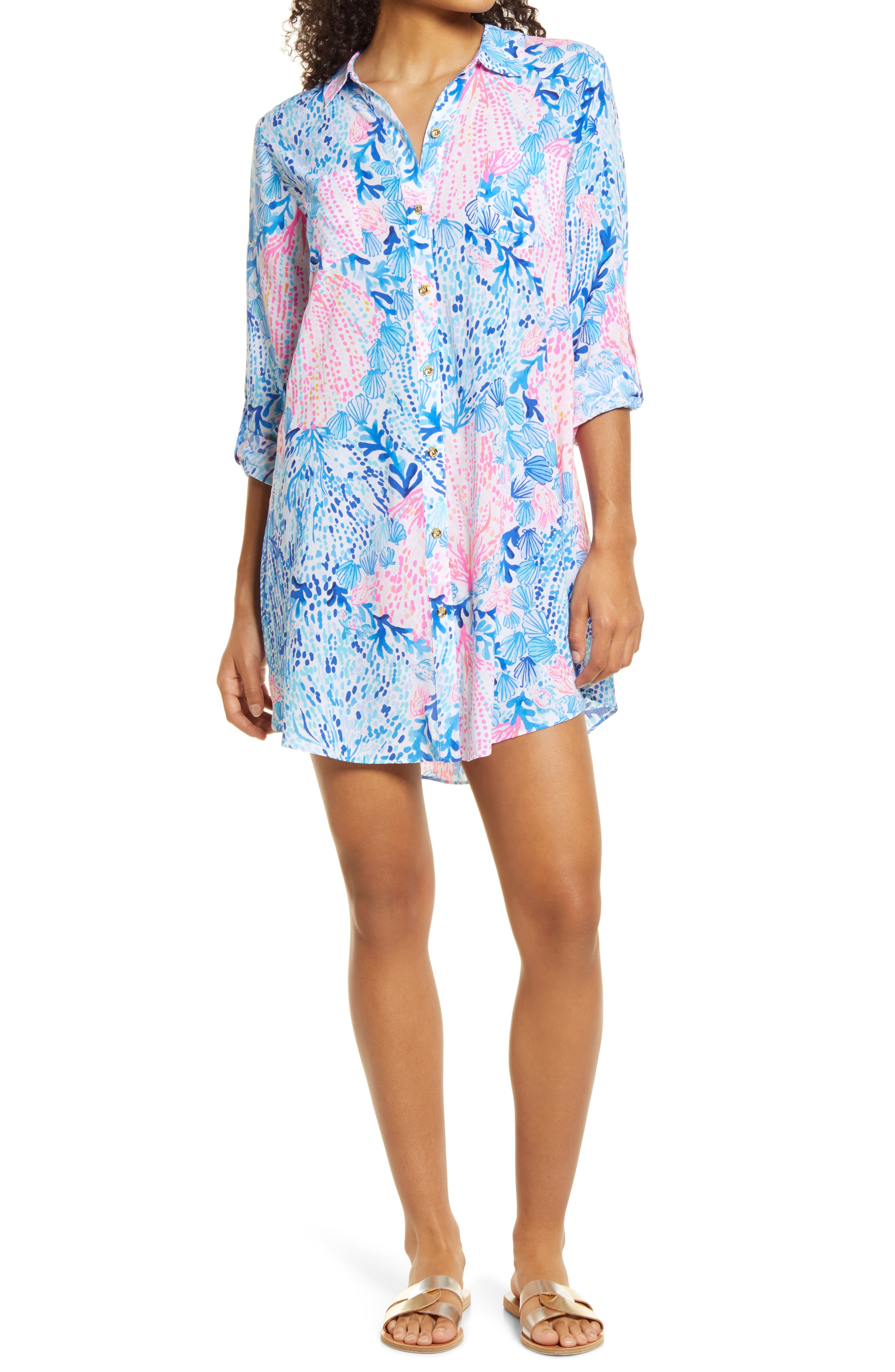 Women's Lilly Pulitzer Natalie Cover-Up Shirtdress