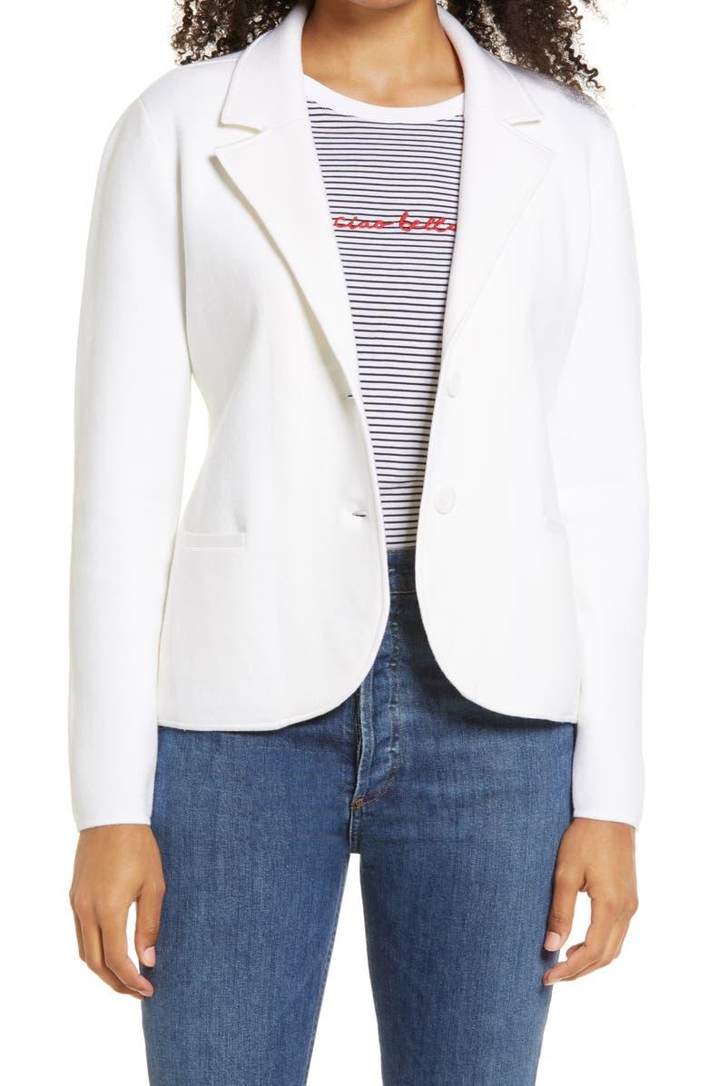1901 Sweater Blazer, Main, color, WHITE