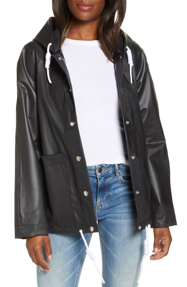 UGG<SUP>®</SUP> Innes Waterproof Rain Jacket, Main, color, 001