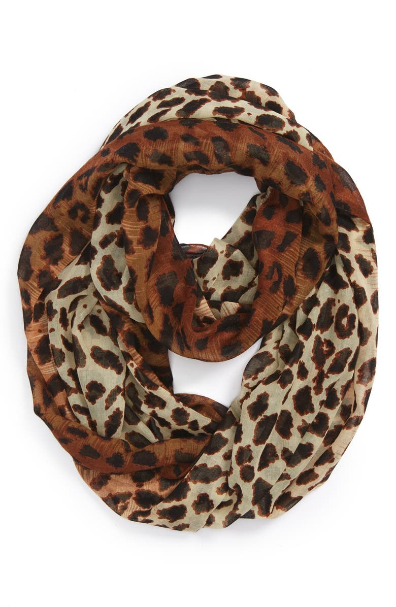 BP. Leopard Ombré Scarf, Main, color, 200