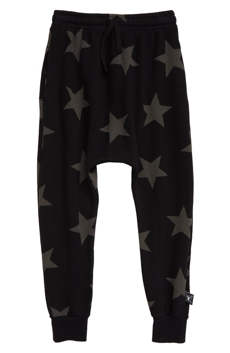 NUNUNU Star Baggy Pants, Main, color, BLACK