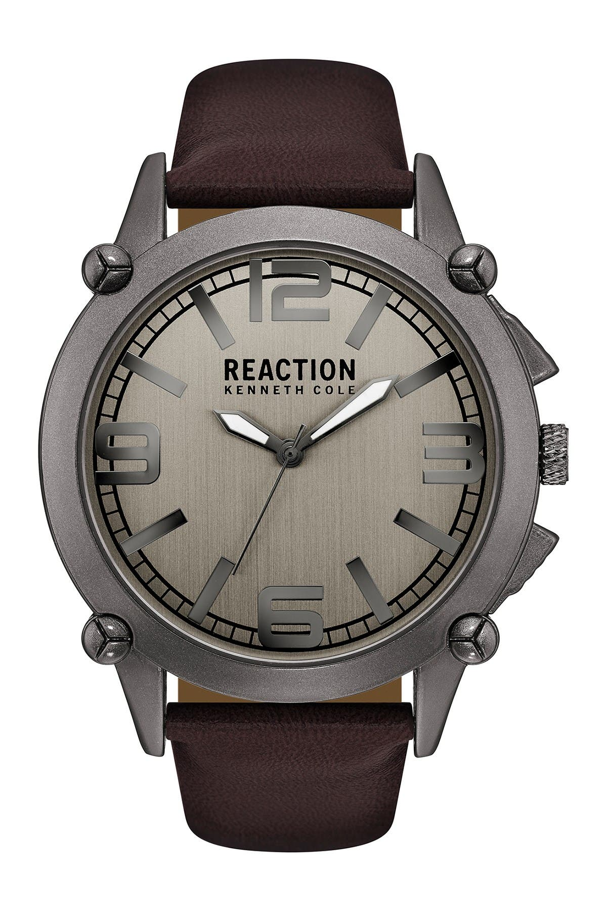 Image of Kenneth Cole Reaction Men's 3-Hand Strap Watch, 49MM