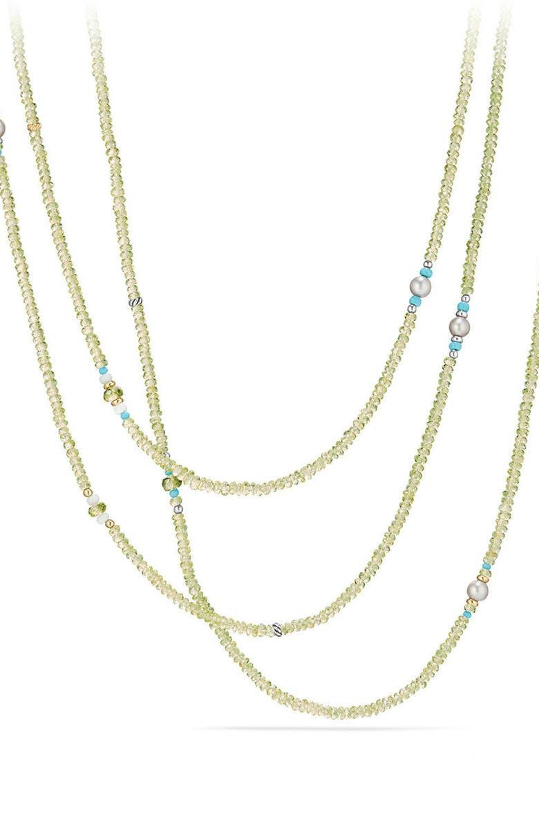 DAVID YURMAN Mustique Tweejoux Beaded Necklace, Main, color, SILVER/ GOLD/ MULTI