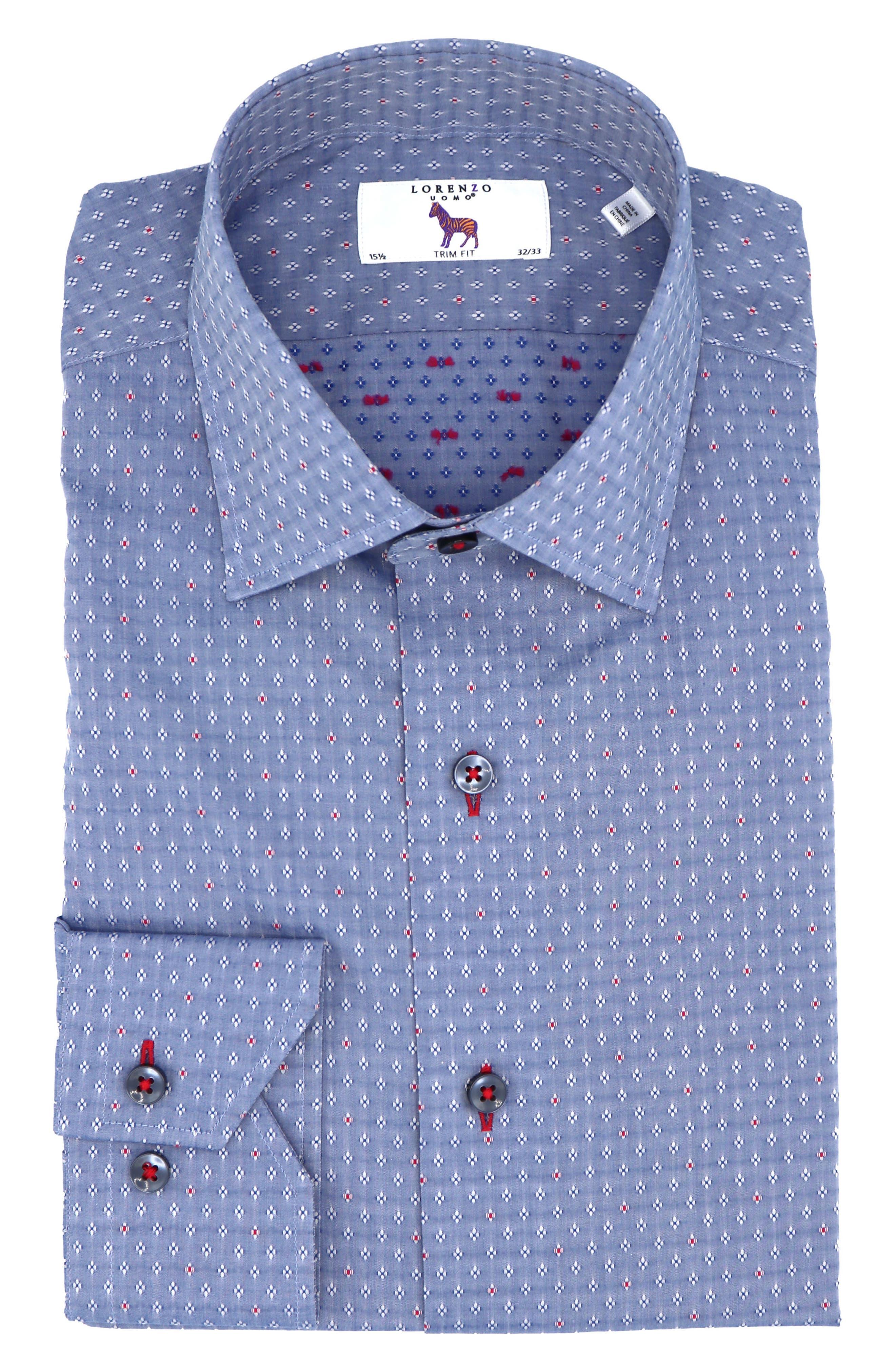 Trim Fit Diamond Dress Shirt