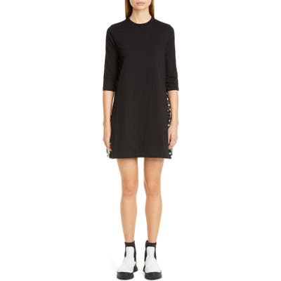Stella Mccartney Polka Dot Inset Dress, US / 40 IT - Black