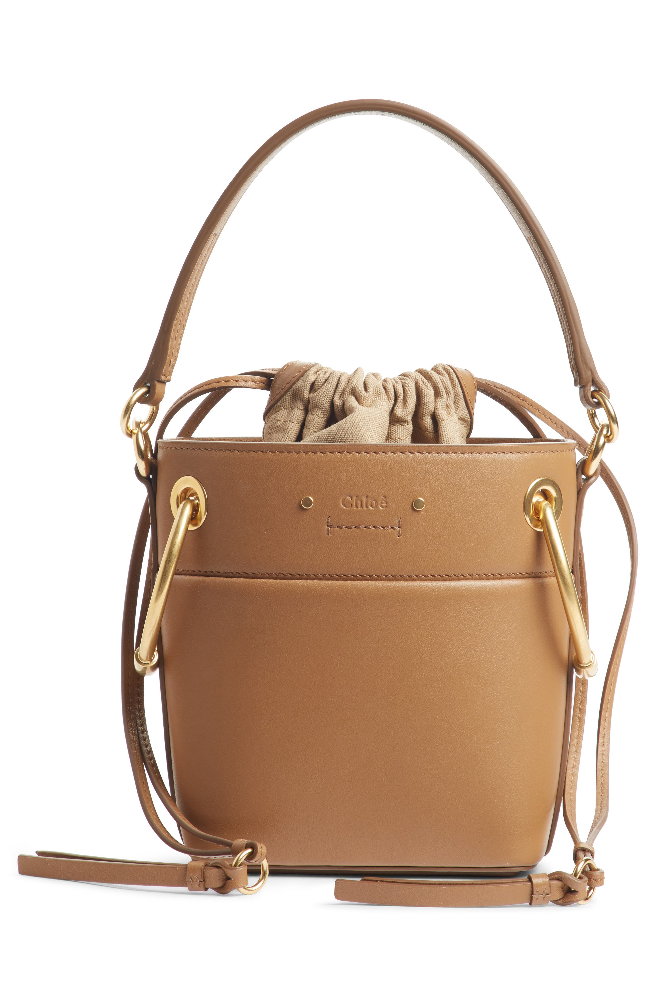 ,                             Roy Small Leather Bucket Bag,                             Alternate thumbnail 17, color,                             201