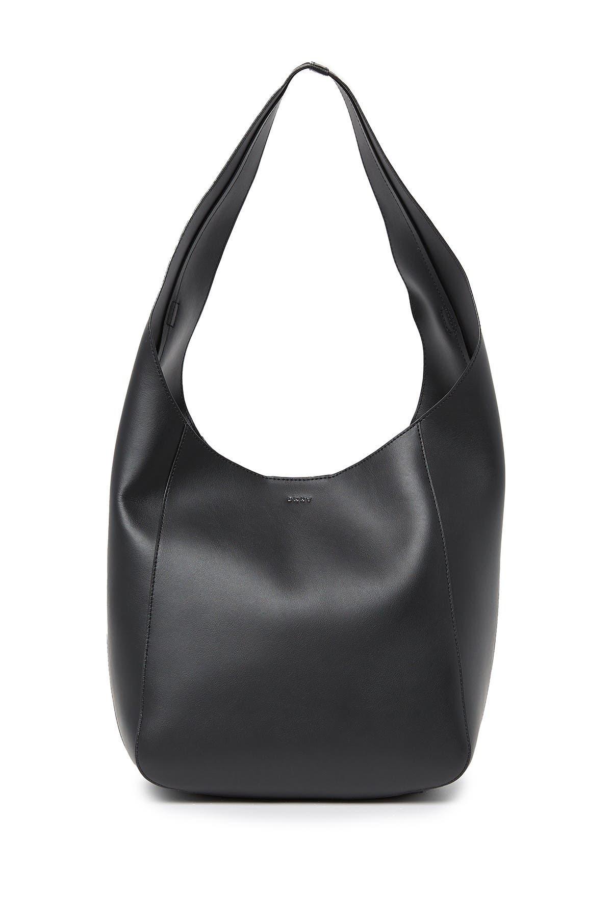 Image of DKNY Bethune Leather Chain Hobo Bag
