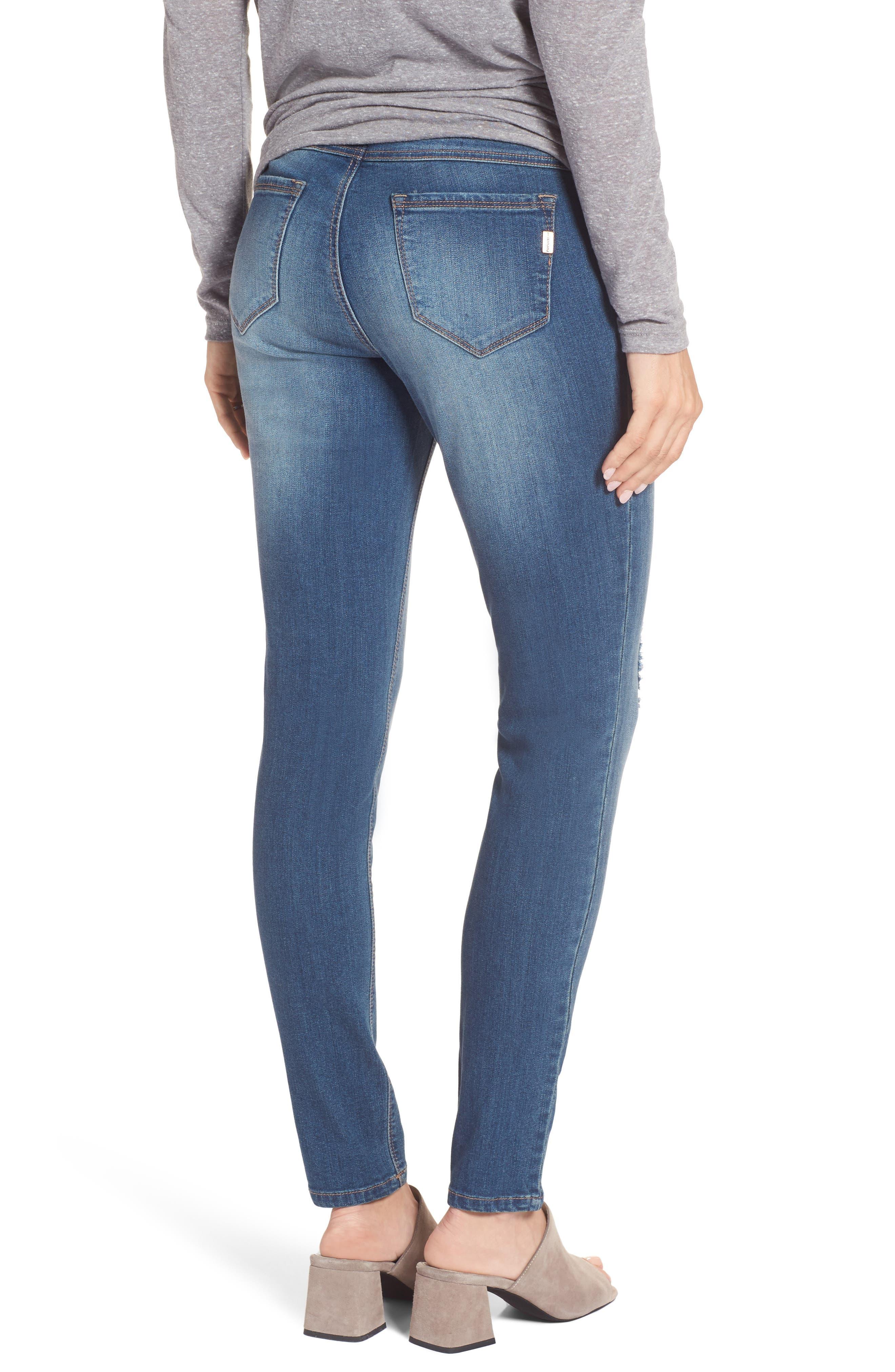 ,                             Destructed Maternity Skinny Jeans,                             Alternate thumbnail 2, color,                             IRENE