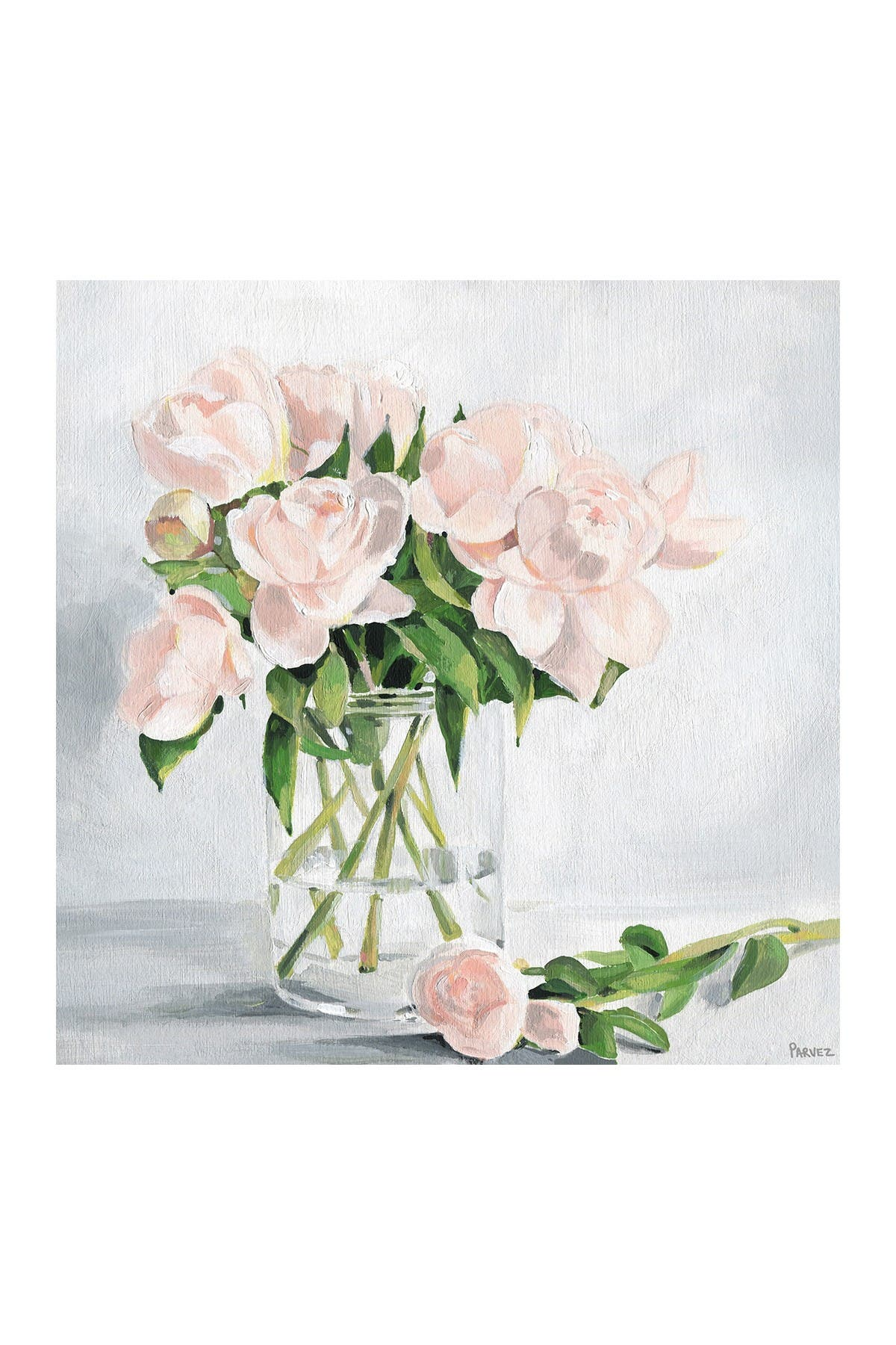 """Image of Marmont Hill Inc. Simply Blooming Painting Print on Wrapped Canvas - 18"""" x 18"""""""