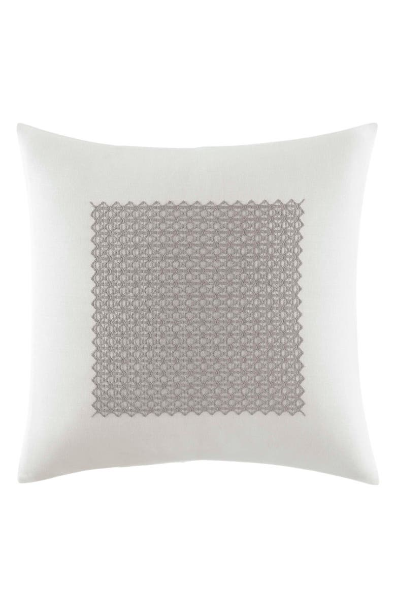 VERA WANG Silver Birch Accent Pillow, Main, color, SILVER