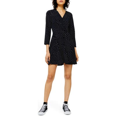 Topshop Twist Front Minidress, US (fits like 10-12) - Black