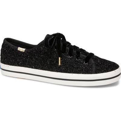 Keds X Kate Spade New York Kickstart Tinsel Sneaker, Black